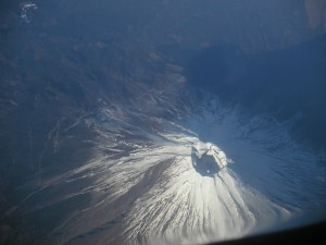 Mt. Fuji from an airplane